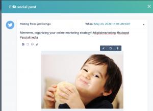 Social media posting on HubSpot | ProFromGo Internet Marketing